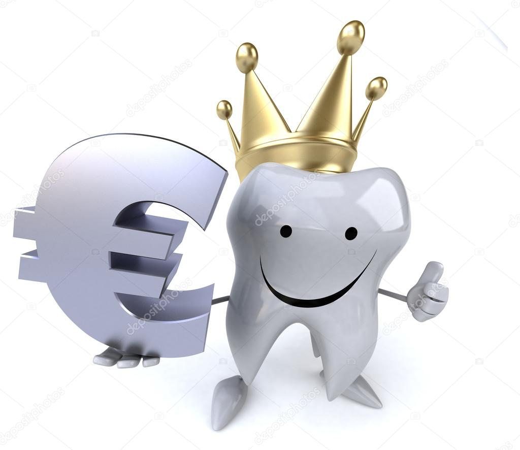 Cartoon Tooth With Euro Sign Stock Photo C Julos 78048210