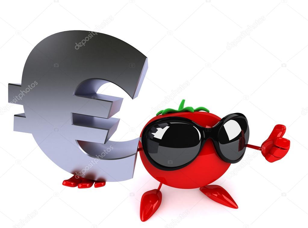 Cartoon Tomato With Euro Sign Stock Photo C Julos 78585078