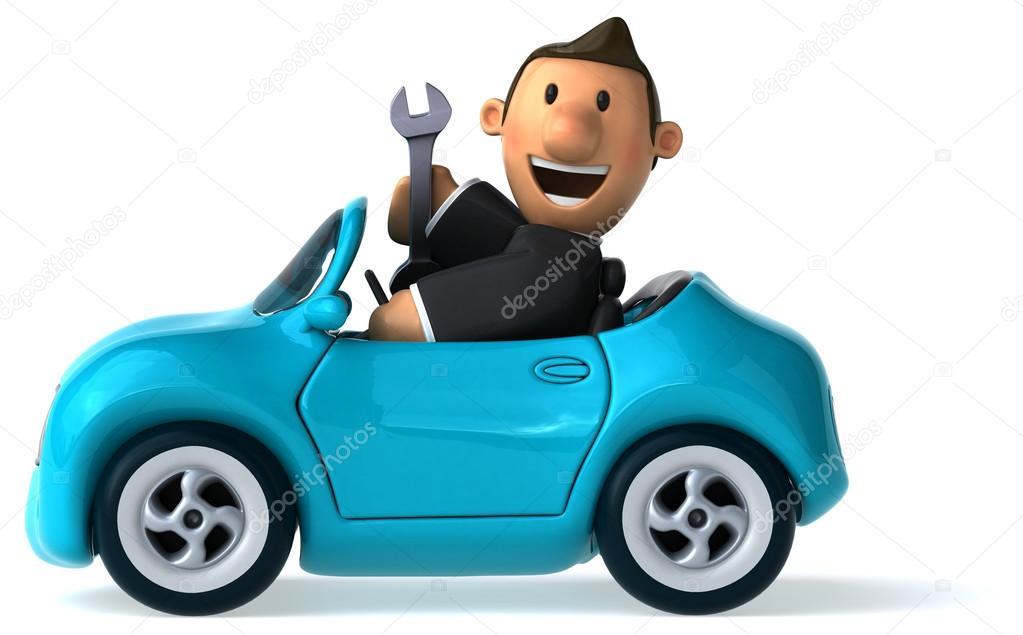 voiture de dessin anim amusant avec voiture photographie julos 78981962. Black Bedroom Furniture Sets. Home Design Ideas