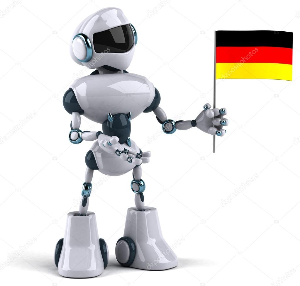 Robot sveglio del cartone del personaggio dei cartoni animati