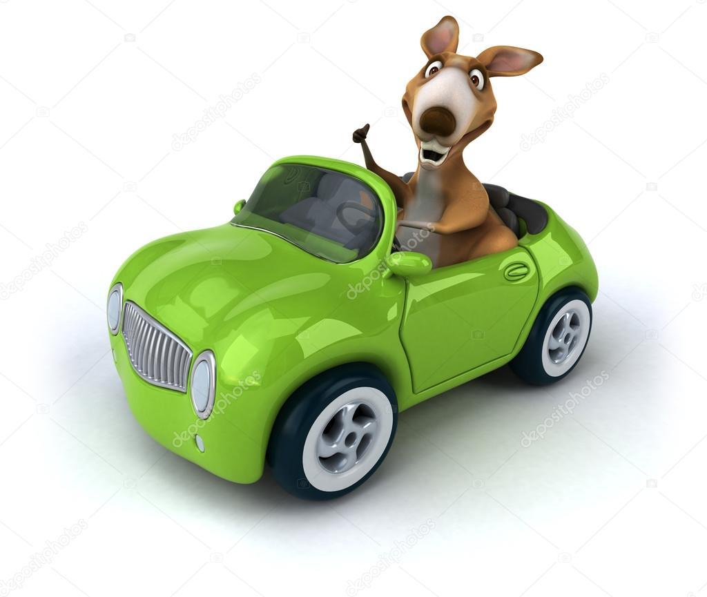 Kangourou dr le en voiture photographie julos 81956502 - Image voiture drole ...