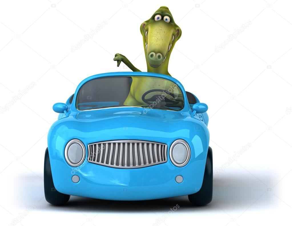 Dinosaure dr le de voiture photographie julos 85211910 - Image voiture drole ...