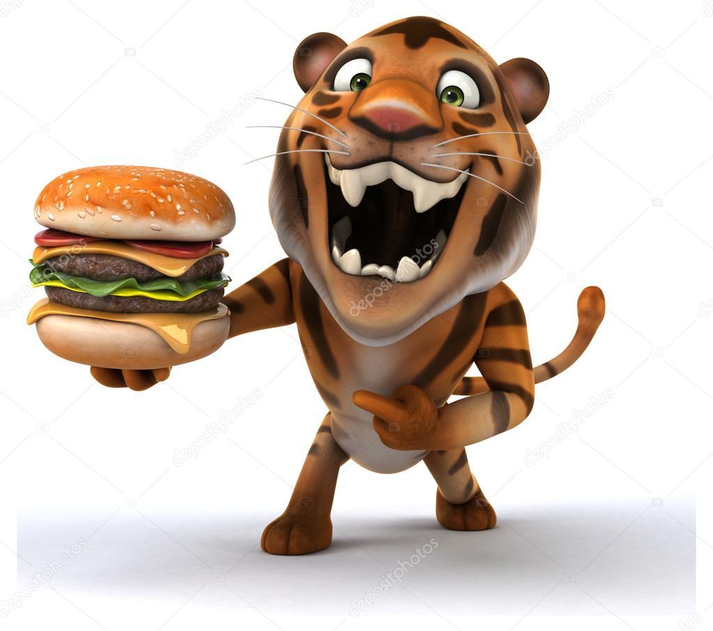 Tigre cartone animato divertente u foto stock julos