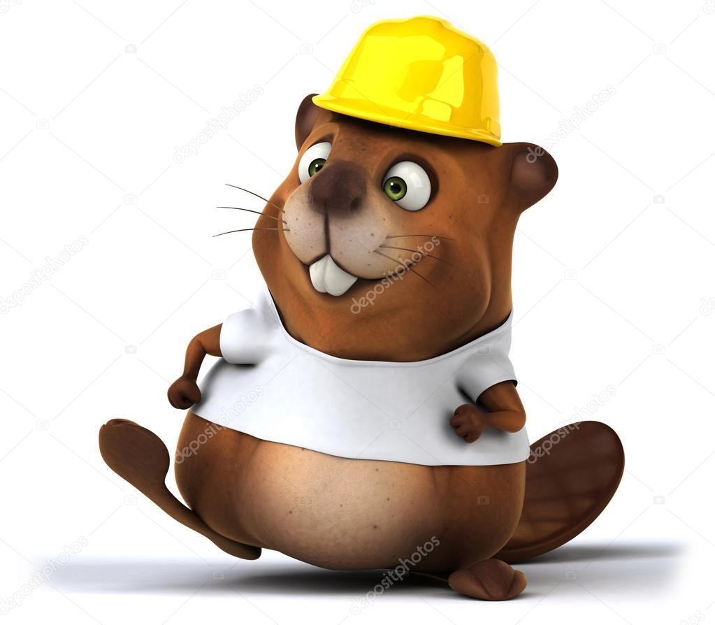 fun cartoon beaver u2014 stock photo julos 90942008