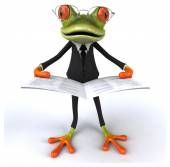 Funny cartoon frog