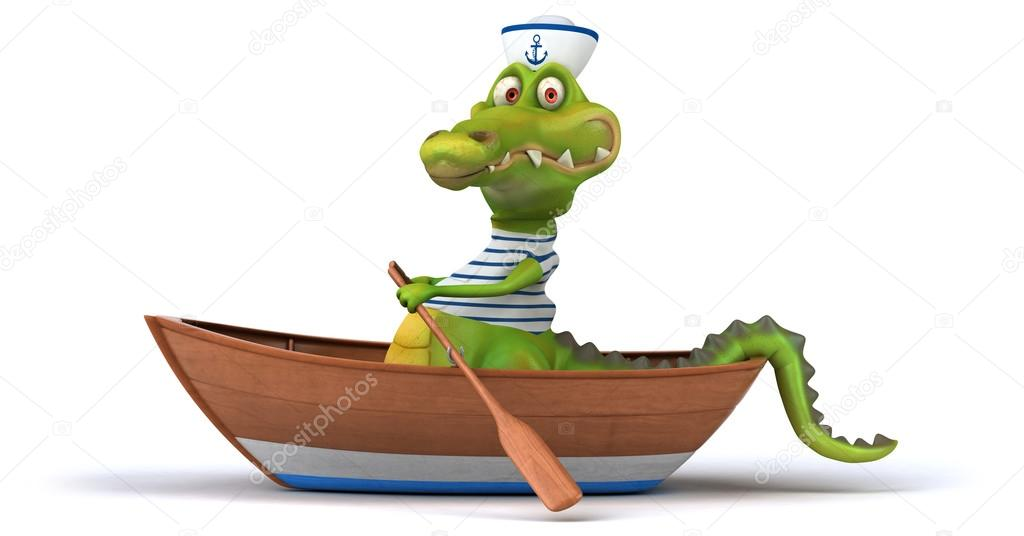 Прикольные картинки крокодила каяка