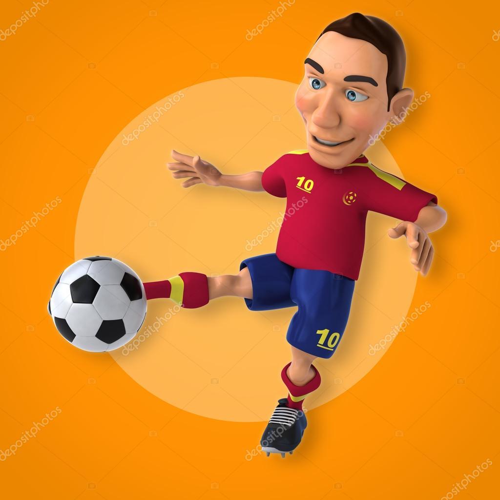 Giocatore di gioco del calcio dei cartoni animati u foto stock