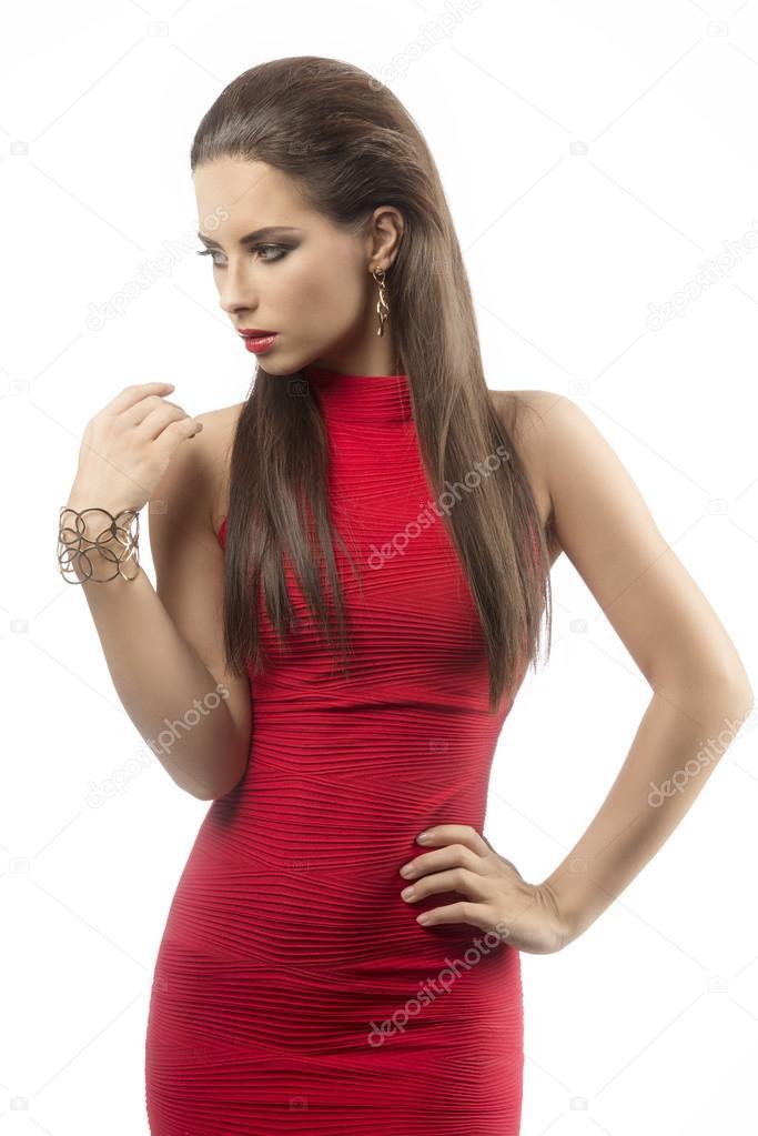 Charmantes Girl mit sexy Kleid — Stockfoto © carlodapino #58896793