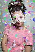 Karneval Porträt von hübschen Mädchen