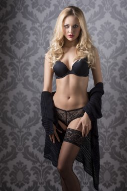 fit girl in lingerie