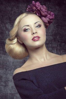 girl with elegant hairdo