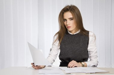 business concept - businesswoman