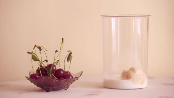 Příprava mléčné koktejl