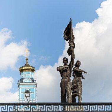 Statue of the Soviet pioneers