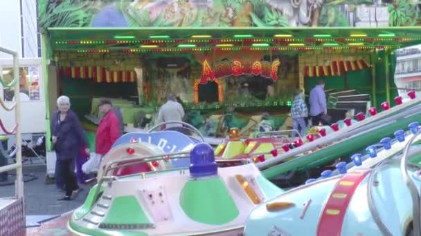 Annual funfair in the centre of city