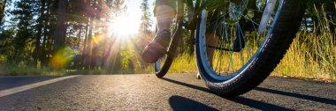 Biking at sunset
