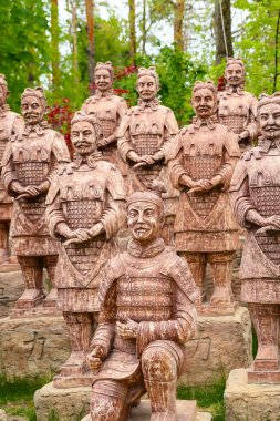 Replica of terracotta warriors in Krasnodar, Russia