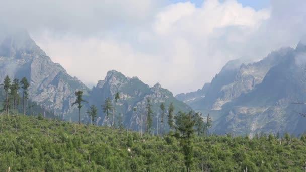 Vysoké Tatry (Slovensko) letní ranní pohled.