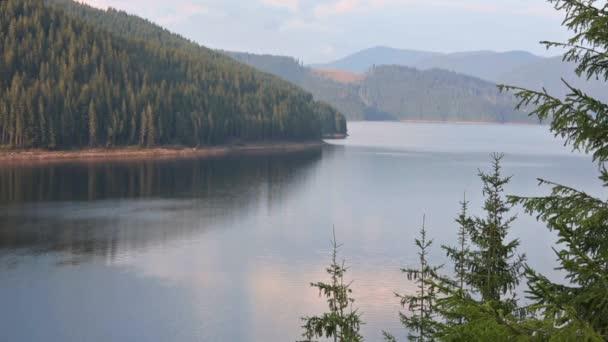 Alpine Lake Vidra Summer View.