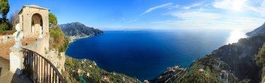 Amalfi coast sea panorama.