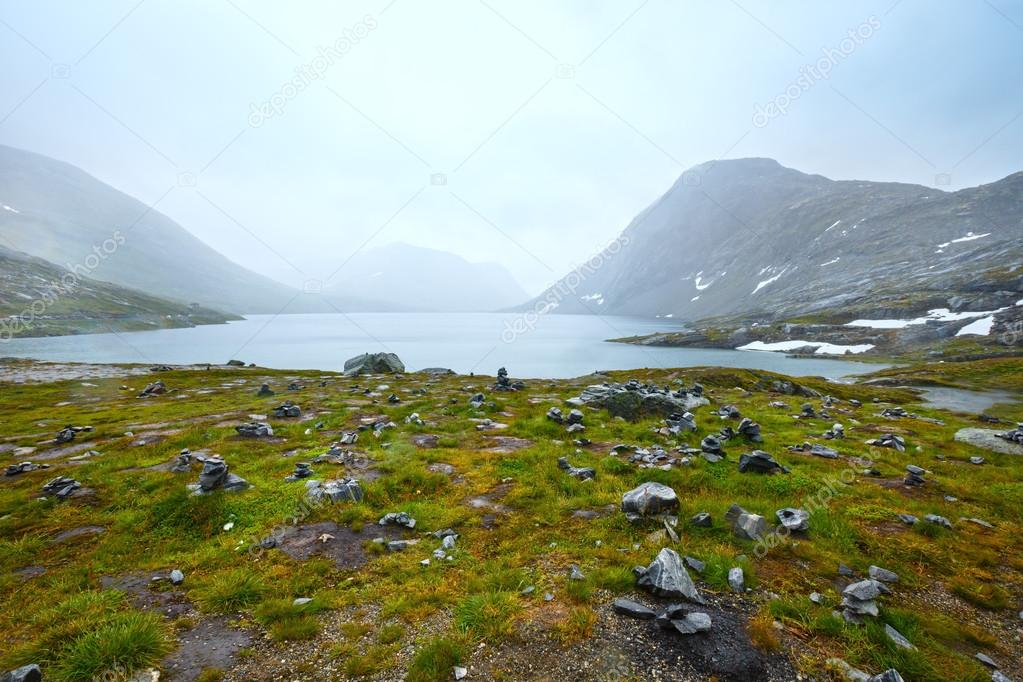 North Norway mountain  spring valley