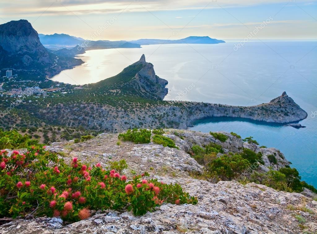 Evening Crimea coastline