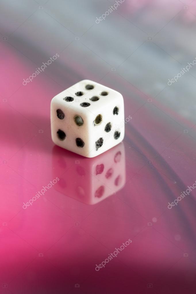 old dice closeup