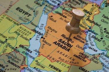 Saudi Arabia on a map