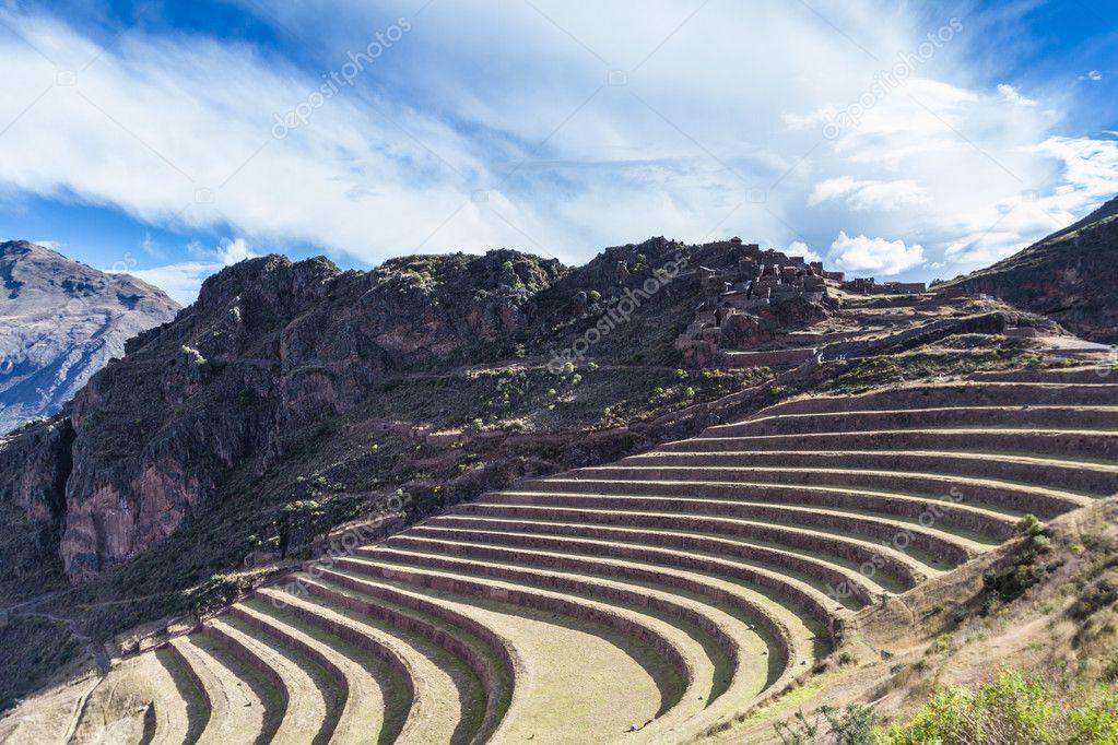 Terrazas De Cultivo Por Los Incas Foto De Stock Wollertz