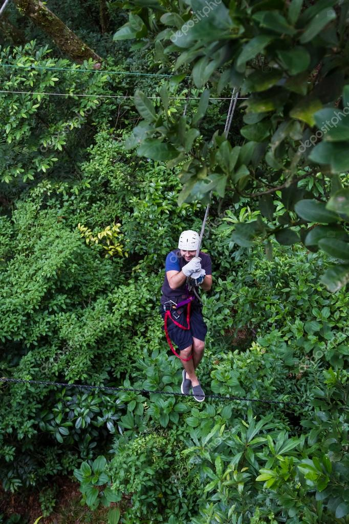 Zip line canopy tours in Costa Rica u2014 Stock Photo & Zip line canopy tours in Costa Rica u2014 Stock Photo © wollertz ...