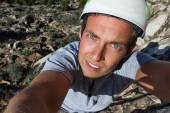 szikla mászó selfie
