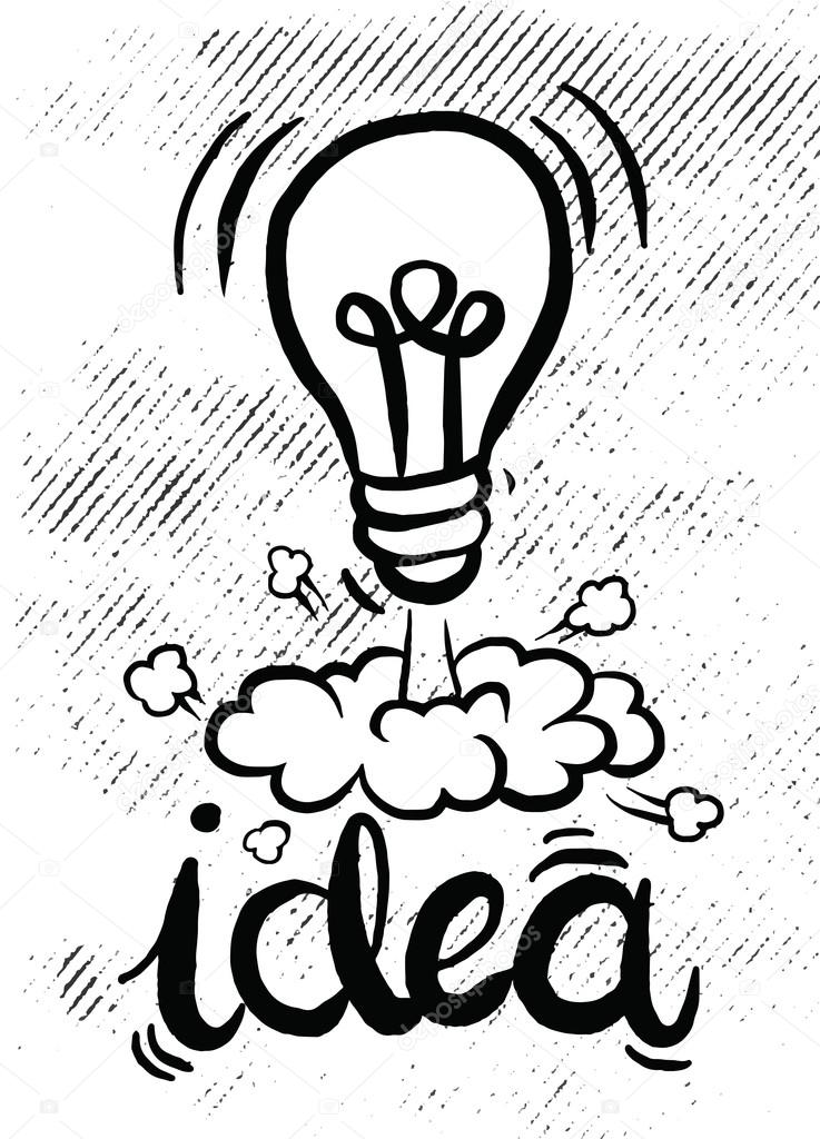 Idea Business Concept Icon Bulb Lamp Vector Sketch Graphic Design Illustration By 9george