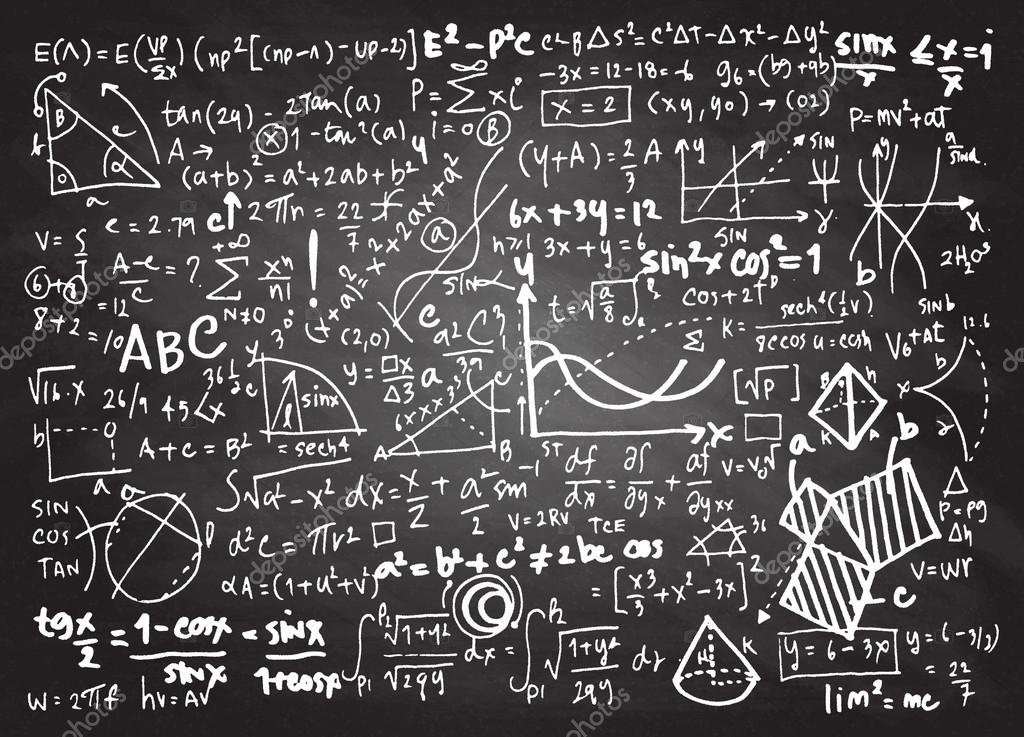 Math linear mathematics education circle background with geometr ...