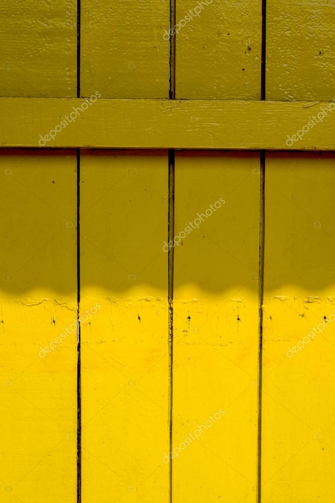 Old Yellow Wood Wall Texture Background Stock Photo