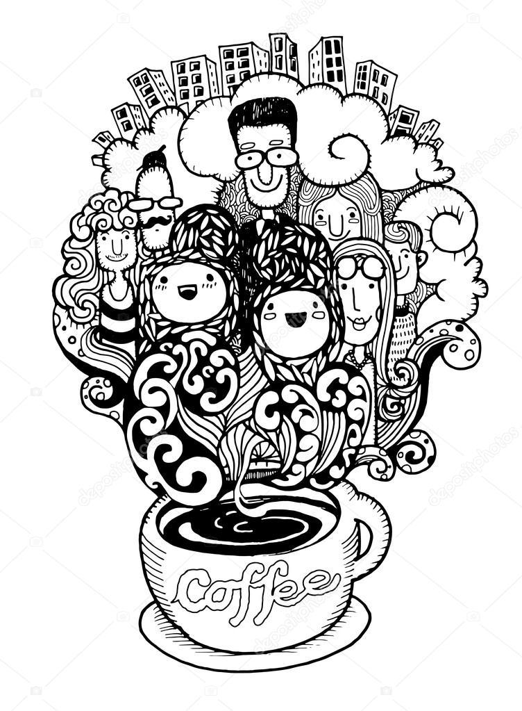 Rucne Tazene Doodle Sablony Sady Ilustrator Line Nastroje Kresleni