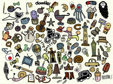 Big Vector Doodle Icons Universal Set