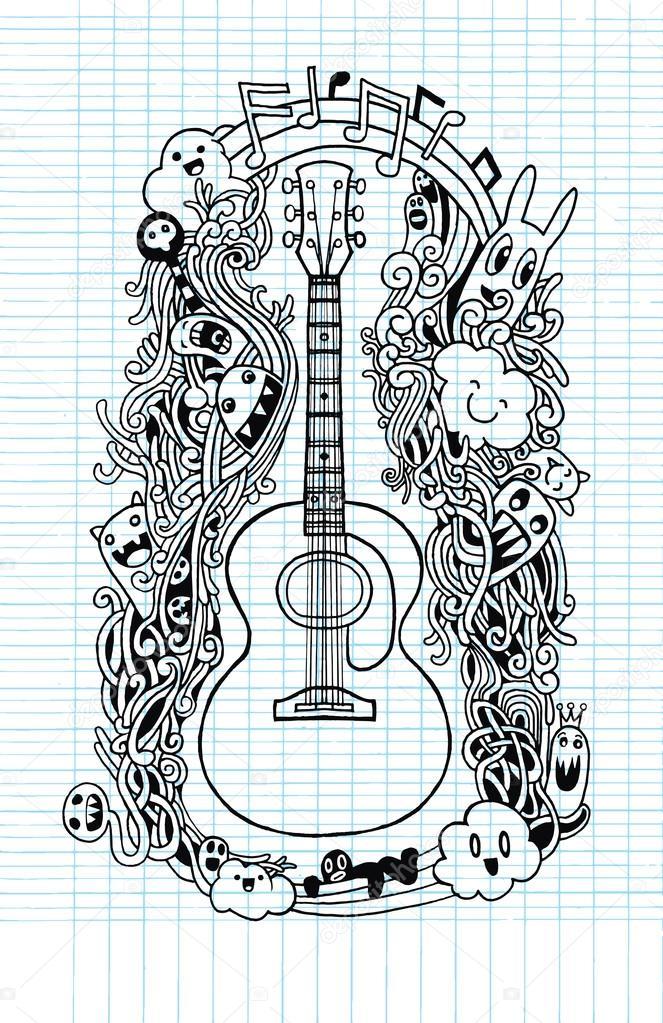 doodle chitarra