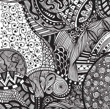 Hand drawing Doodle pattern background