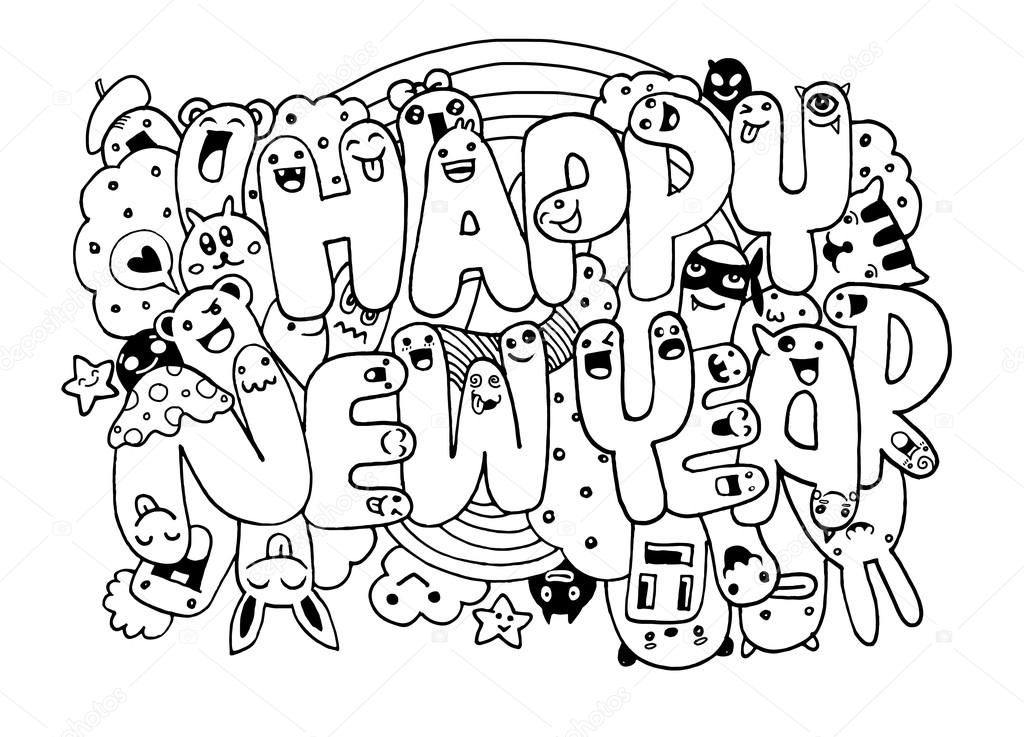 Happy New Year Doodle 18