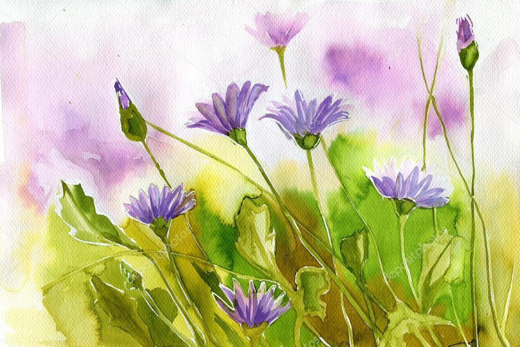 Иллюстрации весенние цветы. Акварельные иллюстрации ...