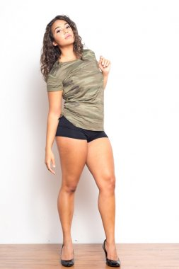 Beautiful African American Female In Sporty Outfit