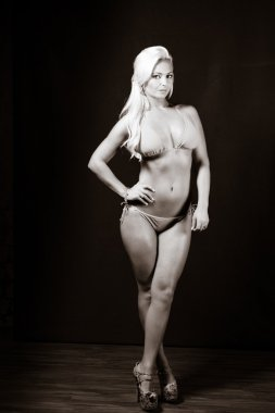 Physically Fit Caucasian Blonde Female