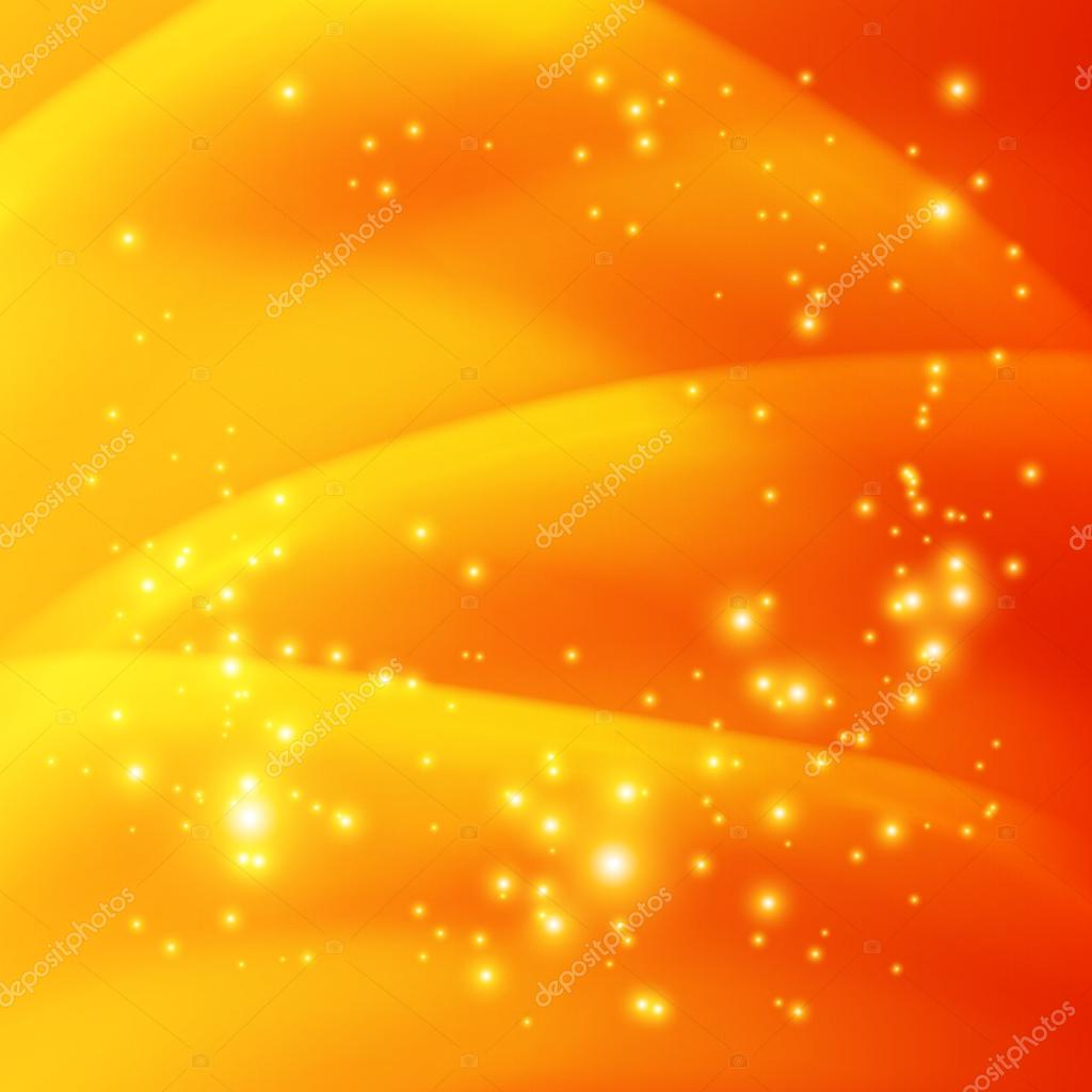 Fondo Naranja Con Destellos Brillantes