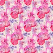 Fotografia modello senza soluzione di continuità con i fiori ad acquerelli