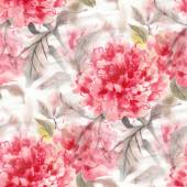 Fotografie Watercolor flowers pattern