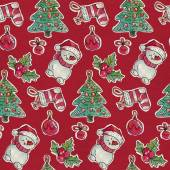 Fotografie Seamless Christmas pattern