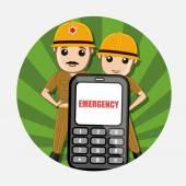 Nouzové volání pro požární služby vektor koncept