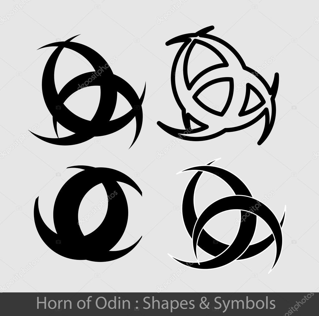 Horn of odin symbols stock vector baavli 111898266 horn of odin symbols stock vector buycottarizona