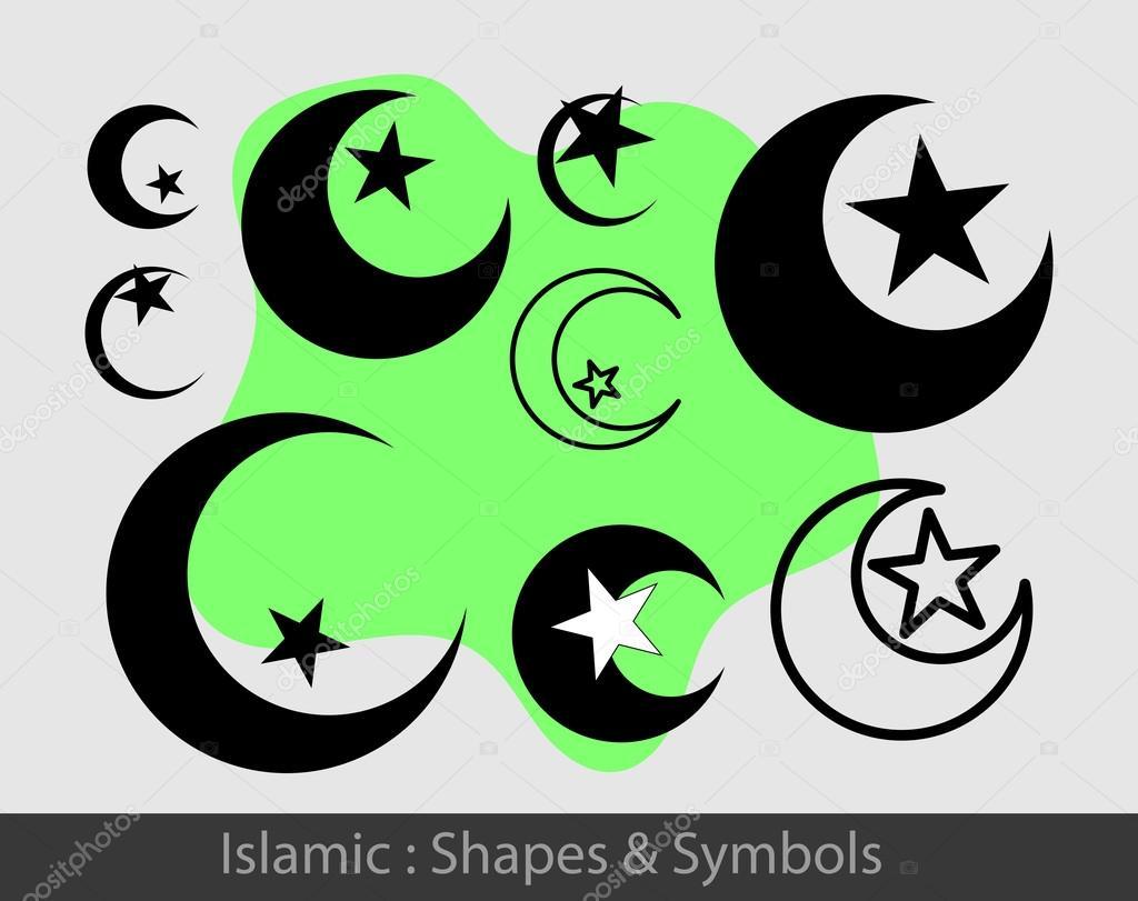 Islamic Symbols Set Stock Vector Baavli 111898912