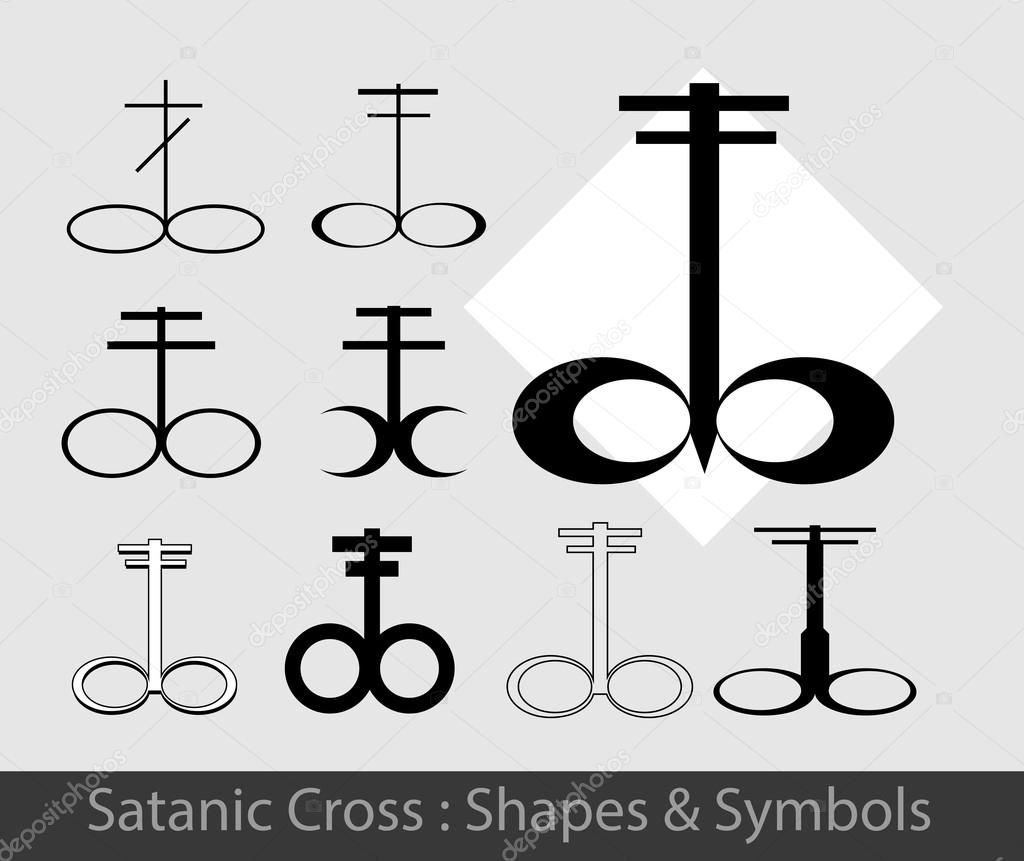 Satanic symbols set stock vector baavli 111899176 different shades of satanic symbols set vector illustration vector by baavli buycottarizona